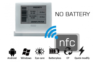 4.2inch E-ink NFC Batteryless EPD Tag